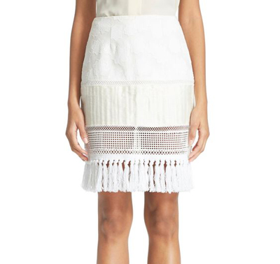 Johnathan Simkhai Fringe Skirt