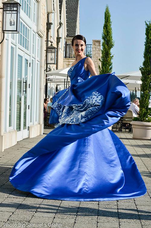 Galina Extravagant Gown at Fashion with Compassion