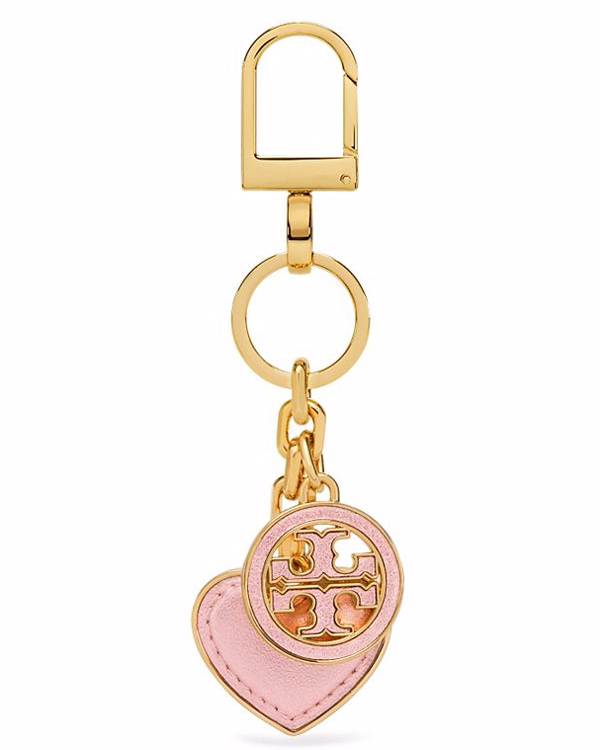Tory Burch Logo and Heart Key Fob