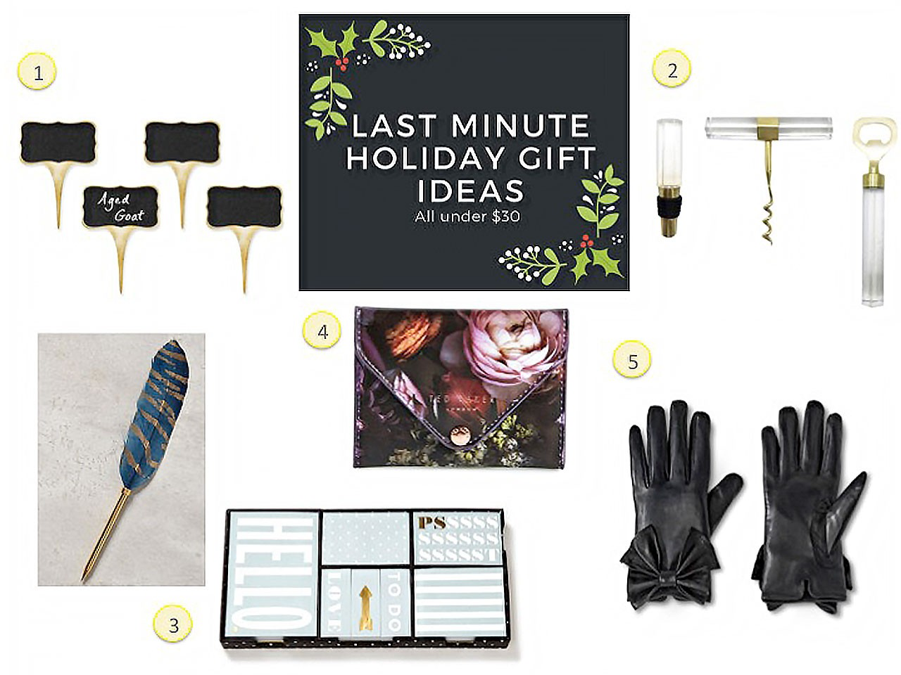 Last Minute Gift Ideas Under $30