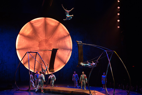 Swingers at Cirque's LUZIA