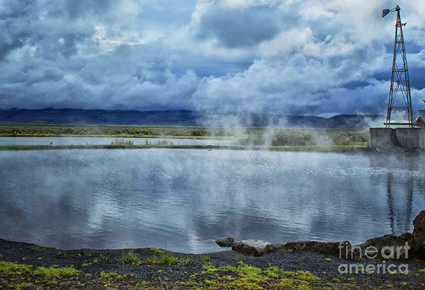 Crystal Crane Hot Springs Pond by Belinda Greb