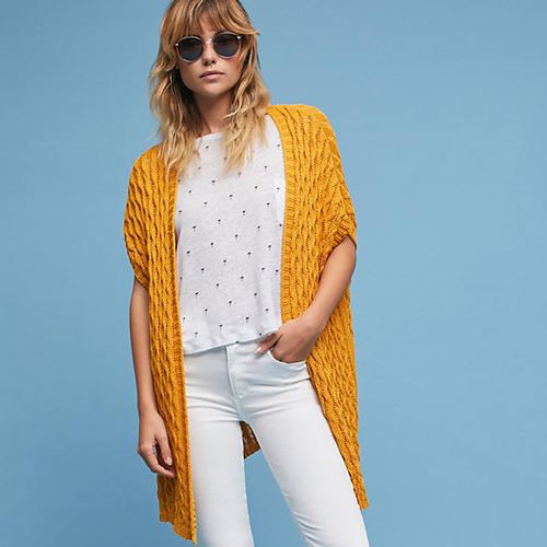 Anthropologie Open Stitched Cardigan