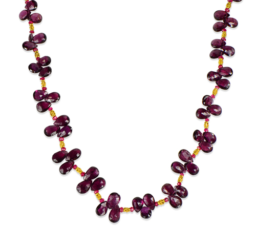 garnet gemstone necklace by C.A. Kittle